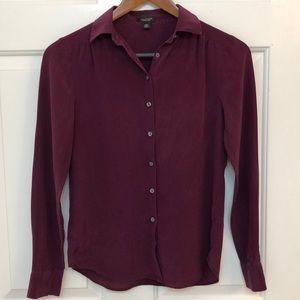 Ann Taylor 100% silk button up shirt